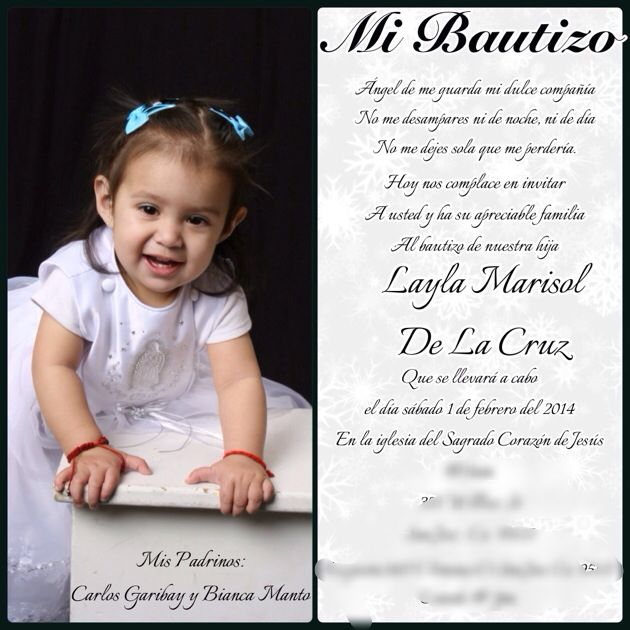 Mi Bautizo Invitation Made By Me My Very Own Creations