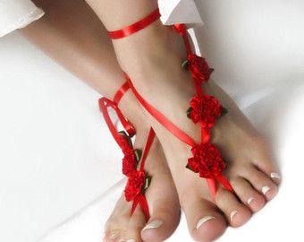 Boda con cuentas descalzos sandalias sandalias de playa de