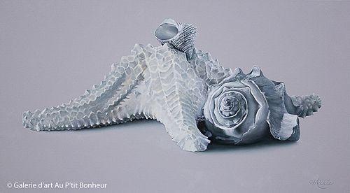 Mickie Acierno, 'Here And Now', 20'' x 36'' | Galerie d'art - Au P'tit Bonheur - Art Gallery