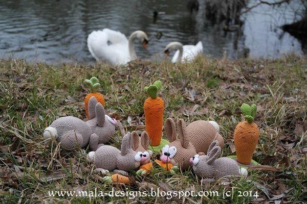 Häschenfamilie - Ostern 2014,Häkelanleitung von mala designs auf DaWanda.com