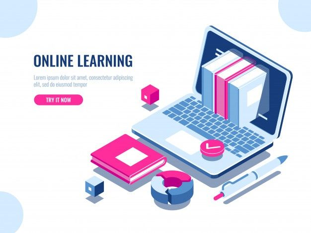 Isometric Online Education Concept Vector Free Download