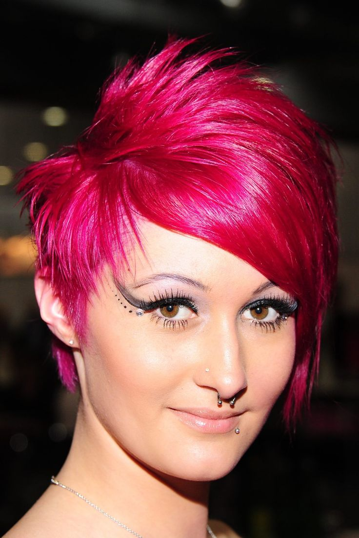 Images Of Short Hair Dyed Orchid Pink Short Hair