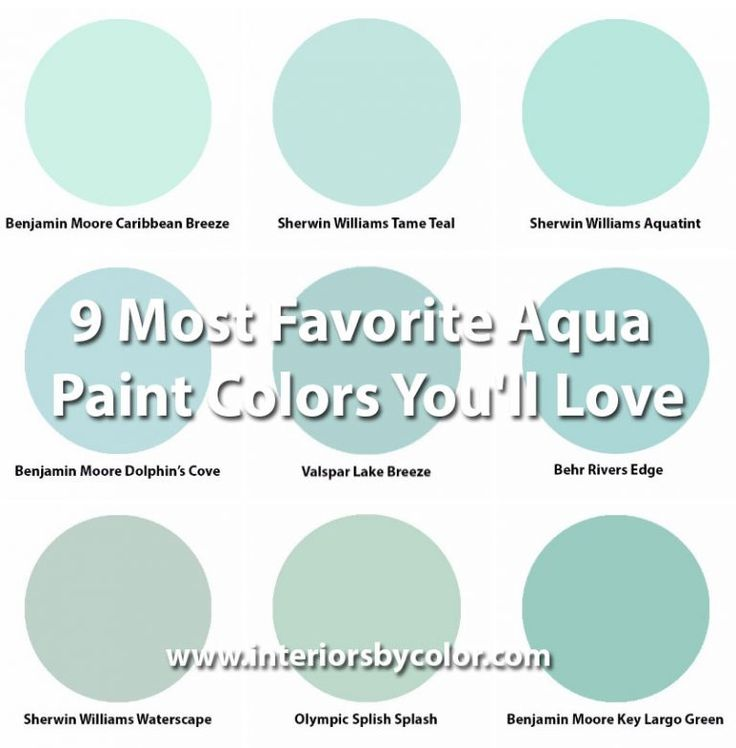 Aquamarine Paint Colors Via Bhg Com: 9 Most Favorite Aqua Paint Colors You'll Love
