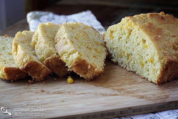 Mealie bread - corn bread from Swaziland