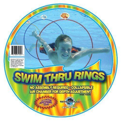 Water Sports Pool Swim Dive Thru Rings 3 Pack Fun Kids Toys Underwater Play NEW  #PoolToys