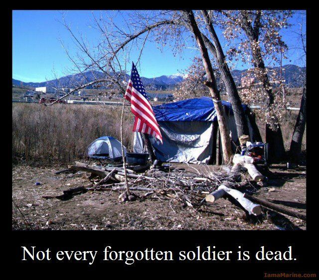 Not every forgotten soldier is dead. | If we want this to change, we must keep…
