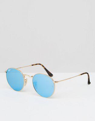 Les 25 meilleures id es de la cat gorie lunettes a monture for Ray ban verre bleu miroir