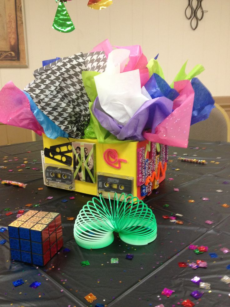 Centerpiece for 80 39 s party all things 80 39 s pinterest for 80s theme decoration ideas