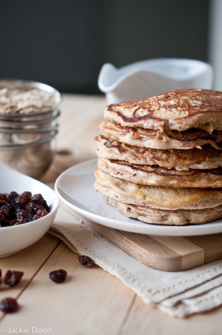 Oatmeal Cookie Pancakes | Recipe | Oatmeal, Pancakes and Whole Wheat ...