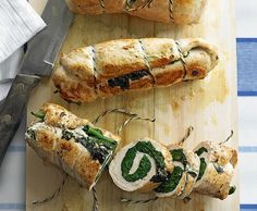 Pouletbrust-Spinat-Roulade