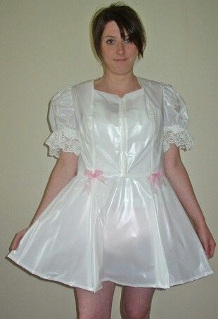 White plastic dress