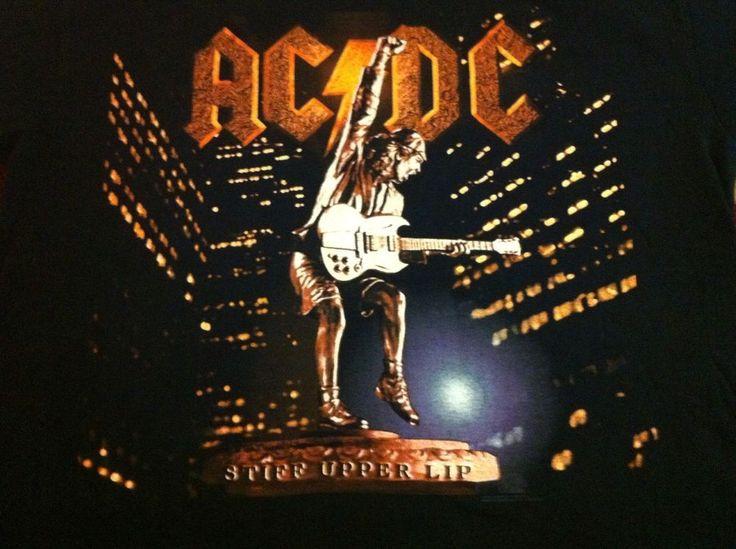 AC/DC concert Shirts2000 Stiff Upper Lip Genuine Vintage EX.Cond. Large  | eBay