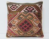 kilim pillow 18x18 red pillow cover red pillow case red pillow sham red throw pillow red decorative pillow red cushion cover red rugs 23035