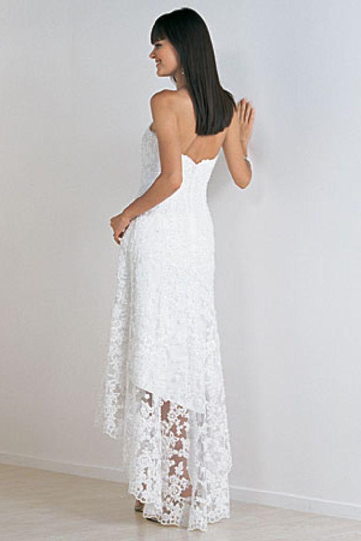 New Arrival Beach Wedding Dresses Sweetheart Sheath/Column Asymmetrical