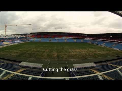 Timelaps Ullevaal Stadion April 2013 The video is made with a GoPro Hero3 There are over 5000 images taken every 5 seconds for a period of eight hour. The timelapse movie is put together and customized with GoPro Cineform Studio