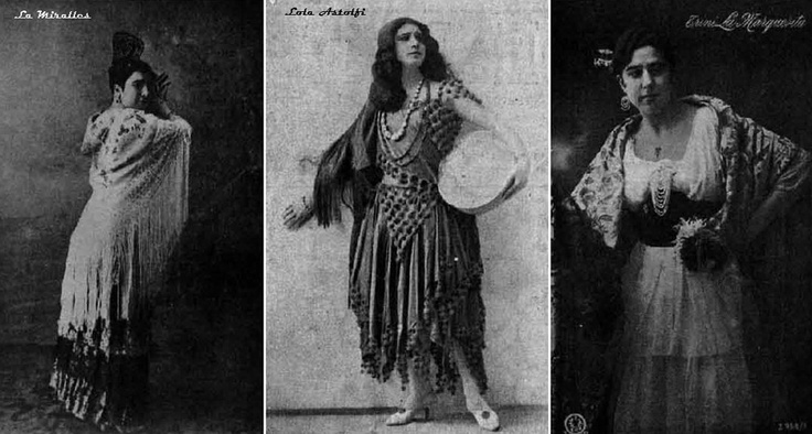 Flamenco dancers from old times