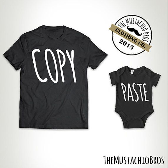 Copy Paste - Father Daughter Matching Shirts Father And Son Daughter Gift Daddy And Baby Shirt Matching Family Outfits  Bodysuit MB226-MB227