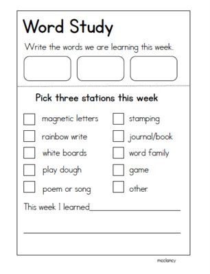 Joyful Learning In KC: Daily 5 Word Work
