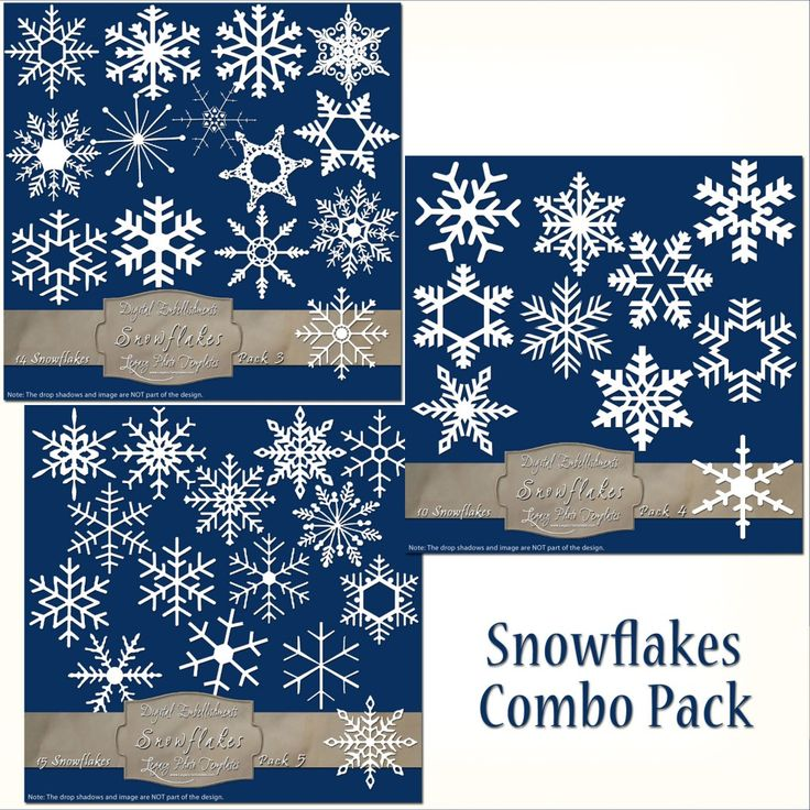 39 Frosty Snowflake Overlays - Combo Pack  $12.25 #snowflakes, #white, #winter, #embellishment, #scrapbooking