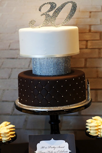 Elegant 30th Birthday Cake From Red Wagon Events Styled