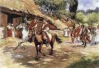 Włodzimierz Tetmajer.  Wesele.    Olej na płótnie. 58 x 80 cm.   Muzeum Narodowe, Warszawa.