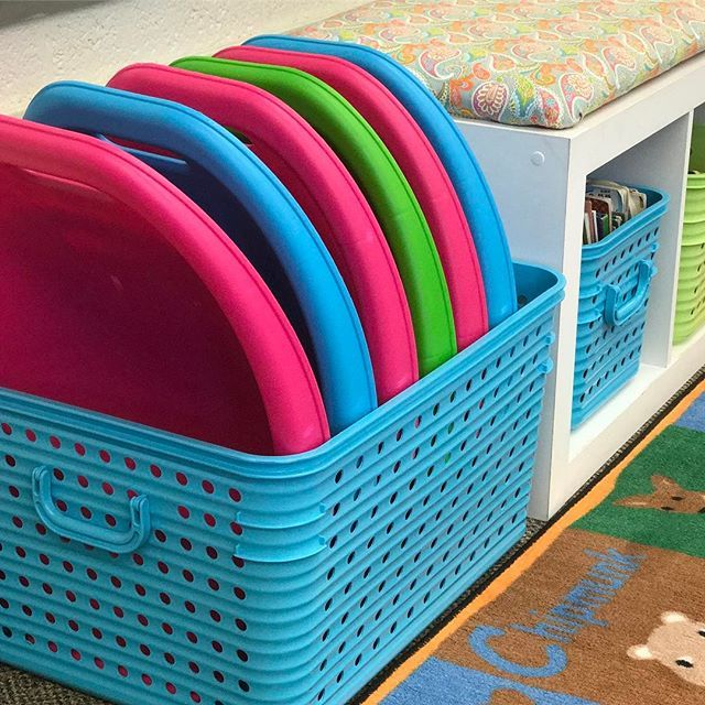 @Biglots large dot totes can hold 6 scoop chairs.  What's your favorite way to store flexible seating?