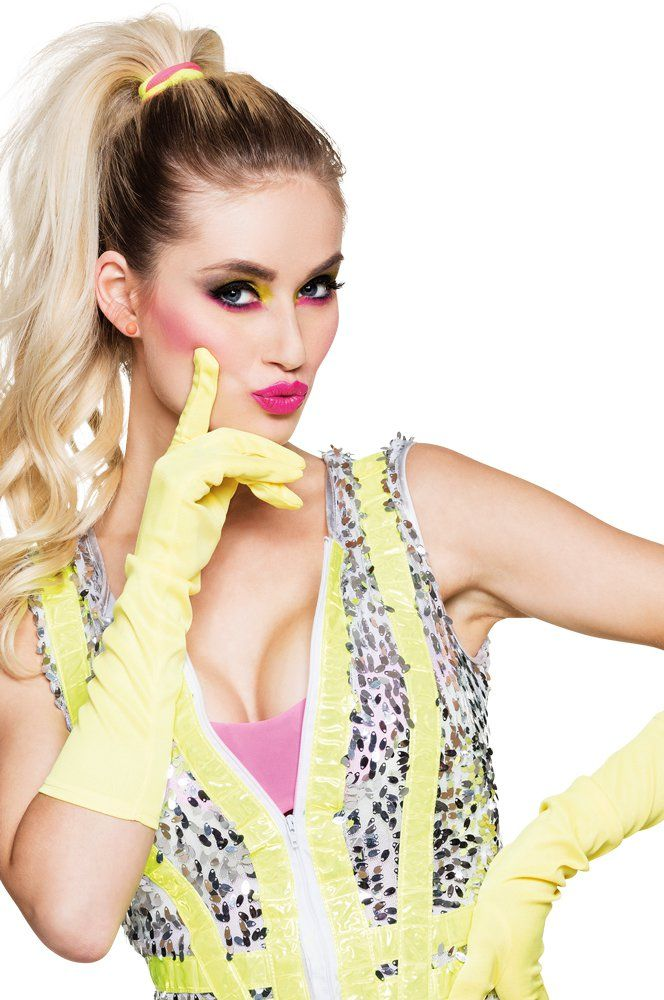 Schlagermove Lange Handschuhe Für Show Girl Kostüm Karneval