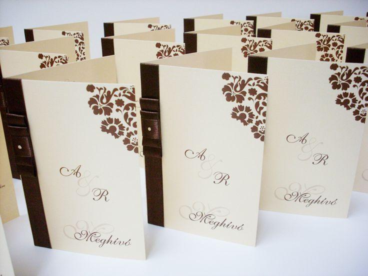 szalagos esküvői meghívó 025.02