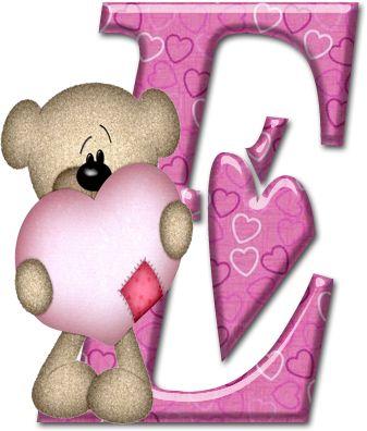 Alfabeto con osito de trapo con corazón. | Oh my Alfabetos!