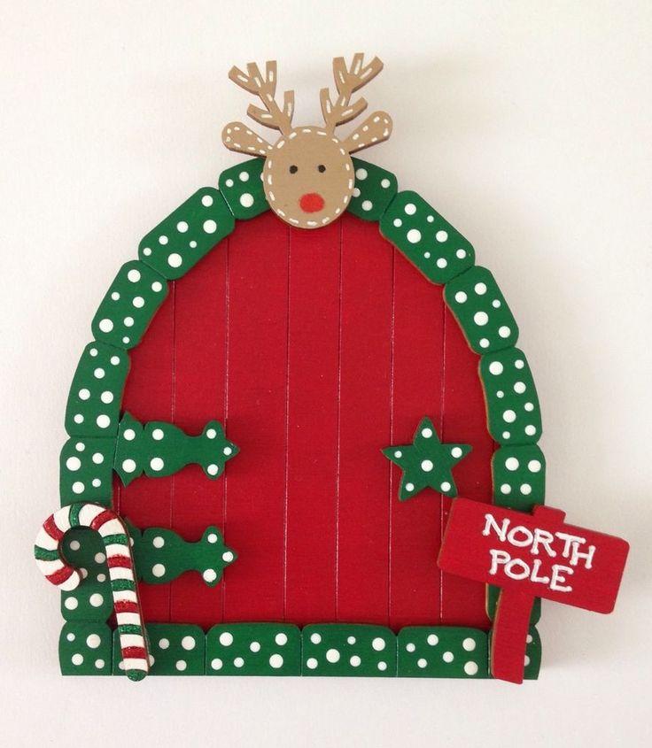 Beautiful Hand Painted Christmas Decoration Fairy Santa Elf Door | eBay
