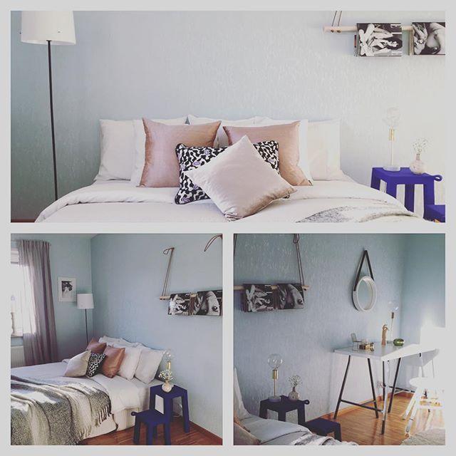 Nu fotar vi! Mysigt sovrum i pastell! #studiogaselin #husmanhagbergmalmo #homestyling #staging #inredning #inspiration #interior123 #försäljning #bostad #sovrum #bedroom #bedroomdecor #malmö #temahome #66kvm #hay