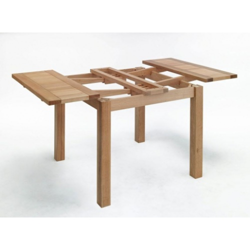 Cambridge Oak Small Drawer Leaf Table CO3001  www.easyfurn.co.uk