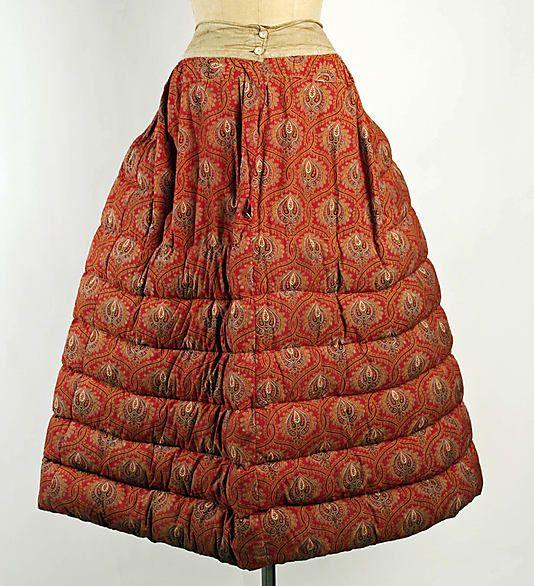 Petticoat  Date: 1865–70 Culture: British