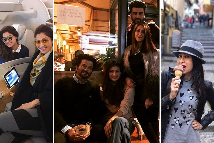 Karisma is in Italy and Neha Dhupia & Shilpa Shetty are in France. Athiya, Ileana, Anil and Arjun are wrapping Mubarakan from London