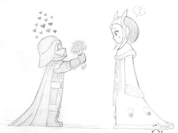 Star Wars - Darth Vader and The Queen of Naboo by KatyTorres.deviantart.com on @DeviantArt
