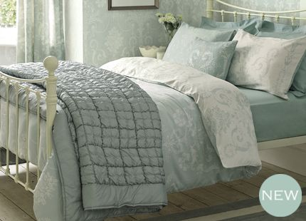 Josette Cotton bedding from Laura Ashley. Would be the final touch to our newly decorated bedroom. #LauraAshleySS14
