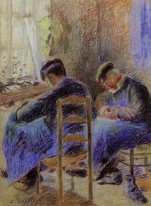 Shoemakers. (1878). Камиль Писсарро