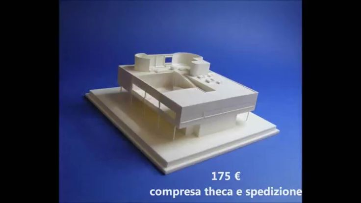Le Corbusier - VILLA SAVOYE - modello in scala 1:200
