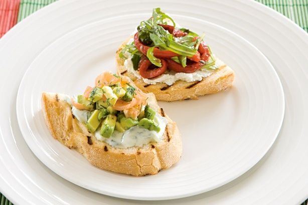 Here are two simple bruschetta ideas to satisfy everyone's palate.