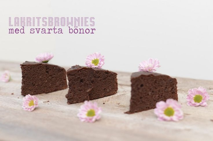 latritsbrownie med svarta bönor  liquorice brownie with black beans