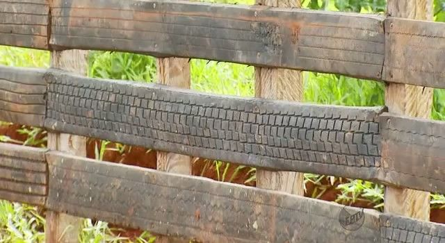 Used Tire Corral Fencing Also shows how he cuts tires with chain saw.