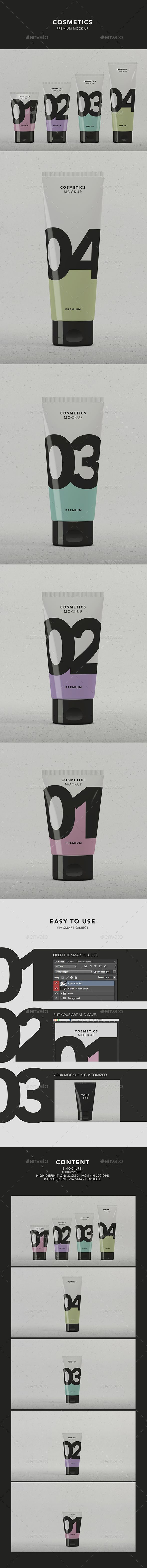 Cosmetics Package Mock-up #design Download: http://graphicriver.net/item/cosmetics-package-mockup/13527264?ref=ksioks