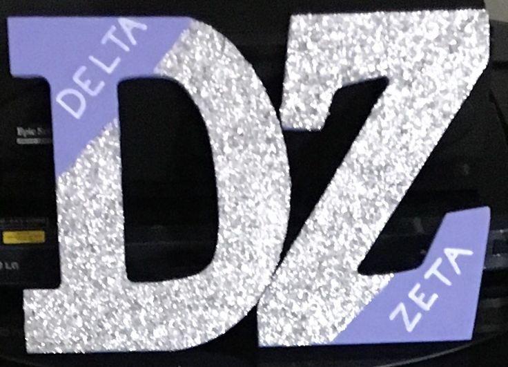 Delta Zeta wooden letters