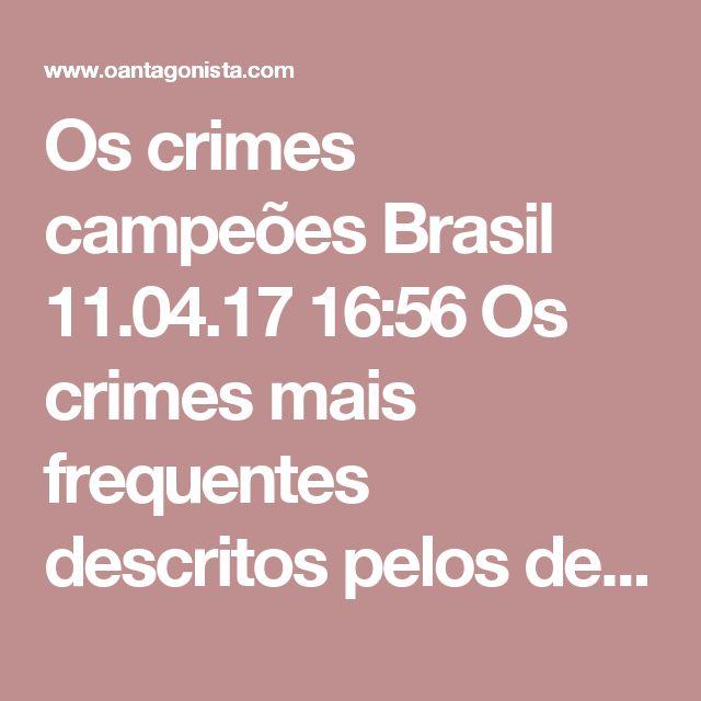 Os crimes campeões  Brasil 11.04.17 16:56 Os crimes mais frequentes descritos pelos delatores da Odebrecht, registra o Estadão, são: - corrupção passiva; - corrupção ativa; - lavagem de dinheiro; - falsidade ideológica; - formação de cartel; - fraude a licitações.