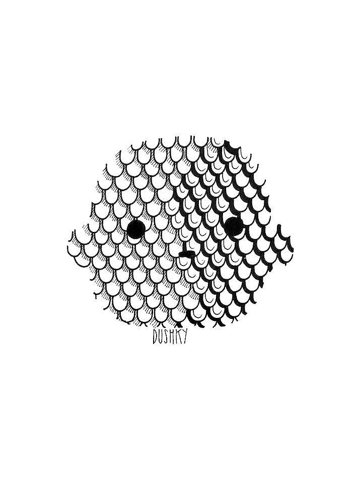 llustration by #dushky | #illustration #art #drawing #design #sticker #uman #umanshop #animal #logo