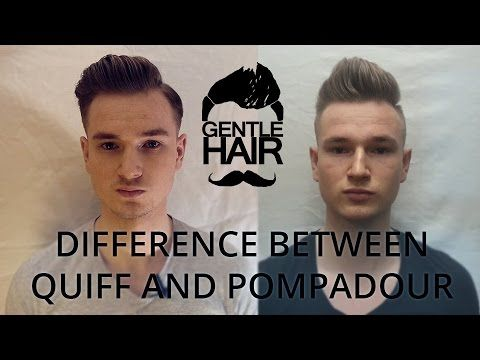 Difference between modern quiff and modern pompadour | GentleHair - YouTube