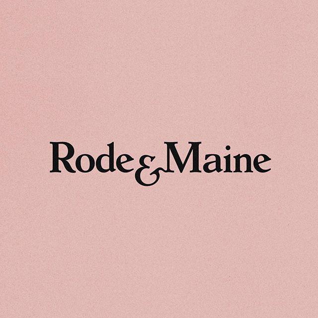 Rode & Maine  .  .  .  #logosai #designspiration #logoinspiration   #Logothorns #Logoexcellent   #Graphicdesignblg #Minimal.- #Logo_showcase #goodtype #typetopia #thedesigntalks #graphicdesigncentral #thedailytype  #graphicdesign #logo #branding #type #typography #minimal #identity #design #lettering #graphic #color #brand #logotype @designspiration #typespire #visualgraphc