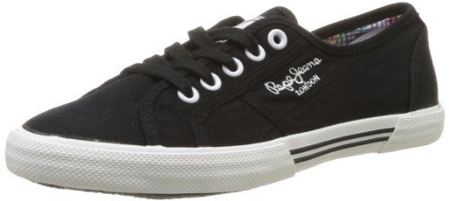 Pepe Jeans London ABERLADY, Damen Sneakers, Schwarz (999BLACK), 36 EU - http://on-line-kaufen.de/pepe-jeans/36-eu-pepe-jeans-london-aberlady-damen-sneakers