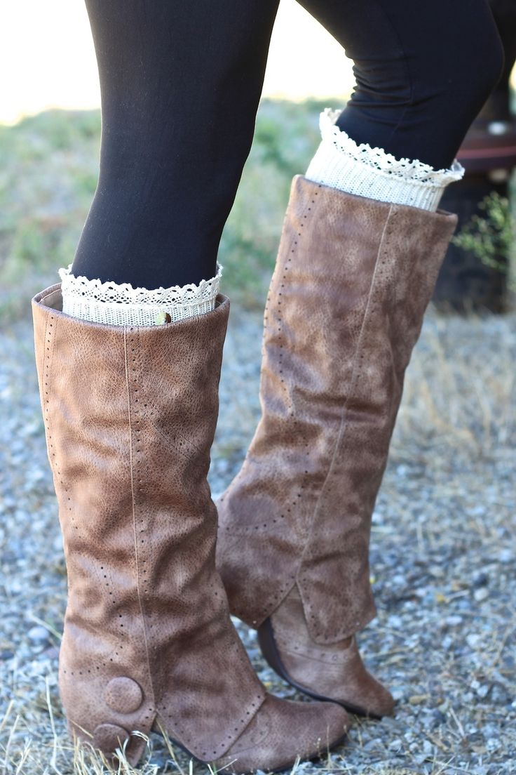 Not Rated BlueBonnet Slouch Boots (Taupe), also in other colors.  (http://www.nanamacs.com/bella-button-detail-slouch-boots-taupe/)