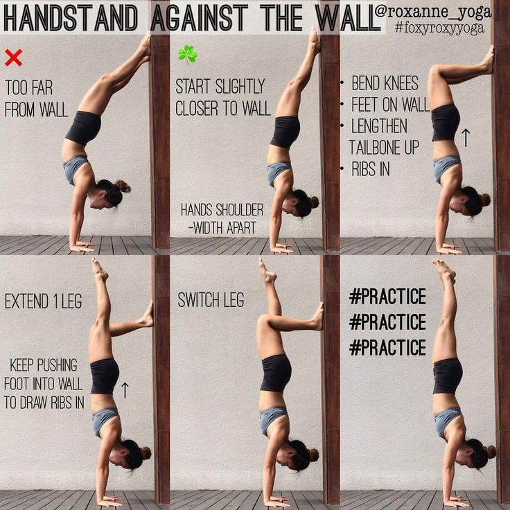 """1,886 mentions J'aime, 20 commentaires - Roxanne Gan (@roxanne_yoga) sur Instagram : """"Handstand against the wall The wall is a great friend in helping you deal with the fear of falling,…"""""""